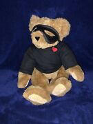 Vermont Teddy Bear Company Love Bandit Jointed Poseable Plush Valentine Mask 14andrdquo