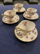 Rossetti China Made In Occupied Japan - 4 Cup And Saucer Sets