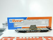 Bf267-0, 5 Roco H0/dc 47223 Flat Wagon/freight Car With Charge Db Nem, Mint+