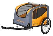 Rascal Bike Pet Trailer For Small And Large Dogs Orange Small Up To 50lbs