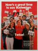 1977 Budweiser Beer Pick A Pair Time Again At Stores Magazine Ad