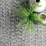 Nuloom Lefebvre Braided Indoor/outdoor Runner Rug 2and039 6 X 8and039 Light Grey