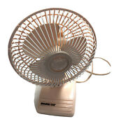 """Holmes Air Vintage Oscillating Electric 13"""" Pink Fan Personal Table Top Retro"""