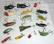 16 Vintage Fishing Lures-arbogast And Heddon And More
