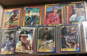 Lot Over 200 Autographed 1990 Baseball Sports Cards