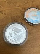 1974 Costa Rica 2 Pc 100 And 50 Colones Pair Silver Proof Coins Uncirculated