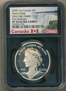 2020 Canada Silver 1 Oz Peace Dollar Ultra High Relief-ngc Pf70 Uc-1st Releases