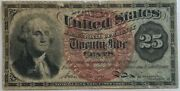 1863 Us Fractional 25 Cent Currency Note Fourth Issue W/watermark