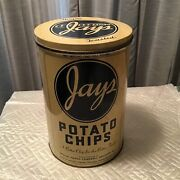 Vintage Jays Potato Chip Tin Can Special Foods Company Chicago Ill