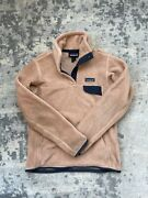 Rare And039s Womenand039s Snap-t Fleece Pullover Light Brown Rosewater Small