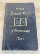 Vintage Hardcover Book Revised Duncanand039s Ritual Of Freemasonry Part 1 From 1965