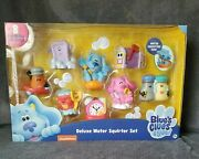 New Blues Clues Deluxe Water Squirter Set Bath Toy By Just Play Free Shipping