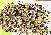 18 Lbs Antique And Vintage Buttons Thousands Of Buttons Gold Silver Old Rhinestone