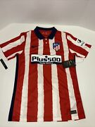 Nike Atletico Madrid 2020/21 Stadium Red Home Soccer Jersey Small Cd4224-612 Red