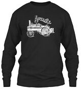 Advance Thresher Steam Traction Engine Classic Long Sleeve T-shirt - 100 Cotton