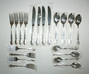 New 20 Piece Set Towle Baroness Silverplate 4 - Place Settings Knife Fork Spoon