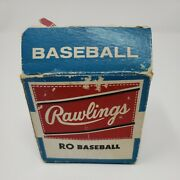 Rawlings Ro Baseball Vintage 1960's New In Open Box Collectible Rare