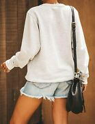 Blooming Jelly Womenand039s Cute Long Sleeve Top Loose Mama Bear Crewneck Pullover Sw