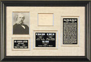 Joseph Lister - Signatures 06/26/1904 With Co-signers