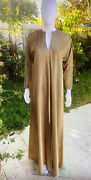 Vintage Halston Caftan Gold Metallic One Size Fits All 1970's