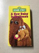 Sesame Street A New Baby In My House Vhs 1994 Rare Video Tape