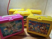 Vintage Lunch Boxes With Thermos Lot Of 5 Lunch Boxes And 5 Thermos