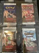 All 4 Pokemon Neo Discovery Booster Pack Arts Sealed And Unweighed