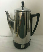 Presto 12 Cup Stainless Steel Electric Coffee Percolator Pot Model 0281104.