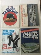 1976 New York Yankees Lot Yearbook Opening Day Scorecards Diary Of A Winner