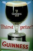 Guinness Thirst Prize Metal Tin Plate Sign Tin Sign 7 7/8x11 13/16in