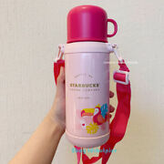 2021 China Starbucks Jungle Crow Straw Cup Double-end Pink Thermos New