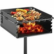 Vevor Park Style Charcoal Grill 16x16x8 Inch With Grate Single Post Carbon St...