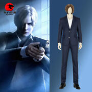 Dfym Game Resident Evil Infinite Darkness Cosplay Leon Costume Adult Men Suits