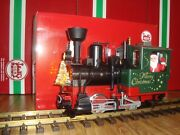 Lgb 20215 Green Christmas Stainz Steam Loco With Smoke Lighted Tree And Santa New