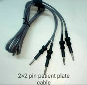Laparoscopic 2 X 2 Pin Patient Plate Cable Valley Lab Fitting 5 Piece Set