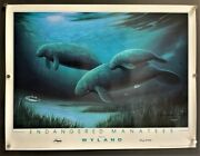 Wyland Endangered Manatees The Art Of Wyland Signed 1991 Hollywood Posters