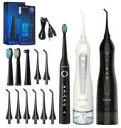 Fairywill Water Flosser Oral Irrigator Teeth Cleaner And 5 Modes Sonic Toothbrush