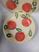 4 Culinary Arts Studio Collection 8 5/8 Fruit Plates Apples Cottage Country