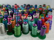Lot Of 86 Isacord, Madeira, And Arc Cones 1000m Spools Embroidery Machine Thread
