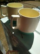 Vintage Vacron Ware Insulated Cups Aqua Blue Bopp-decker 💎mcm Set 2 Pre-owned