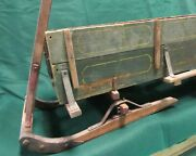 Antique Childand039s Pull Sled Wooden Sleigh Primitive Wood Americana
