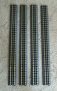 Rail King By Mth Realtrax 40-1019 O Gauge 30 Straight Track Solid Rail - 4 Pcs