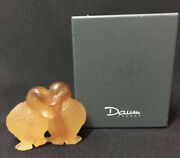 Nib Daum France Canetons Crystal Duck Pair Figurine Paperweight Signed