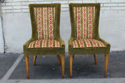 Lovely Pair Of Italian Side End Fire Side Chairs C. 1950