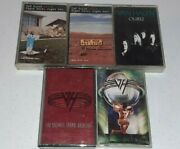 Lot Of 5 Van Halen Music Cassette Tapes With Original Cases Right Here 5150 More
