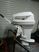 Johnson 50hp Tiller Outboard With Power Trim