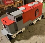 Hand-made Wood 80 Ohio State Buckeyes Train Toy Box/chest Pu/50 Mile Delivery