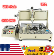 Usb Port 4 Axis Cnc 6090 Router Engraving Milling Drill Machine Engraver Usa New