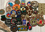Military Mixed Lot Over 40 Patches Usaf Air Force Us Marines Coast Guard Uscg