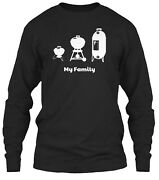 Charcoal Kettle Grill Smoker Bbq Family Classic Long Sleeve T-shirt - Cotton